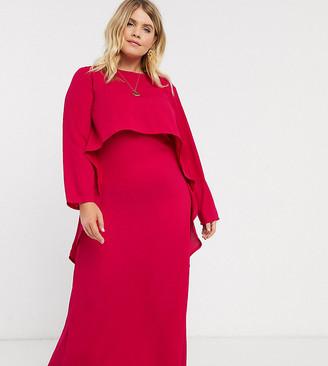 Verona Curve maxi dress with draped layer