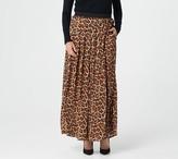 Joan Rivers Classics Collection Joan Rivers Petite Leopard Maxi Skirt