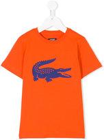 Lacoste Kids gator print T-shirt