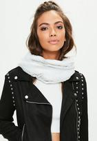 Missguided White Faux Fur Snood, Brown