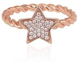 Alinka Jewellery Stasia Single Star Ring Braided Rose Gold