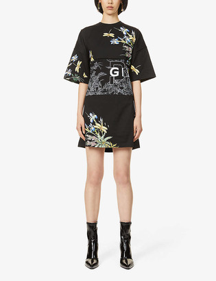 Givenchy Printed cotton mini dress