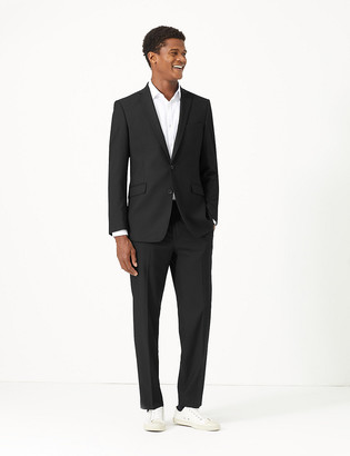 Marks and Spencer Big & Tall Black Slim Fit Jacket with Stretch