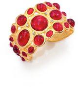Kenneth Jay Lane Sculpted Red Cabochon Bracelet