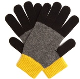 Paul Smith Tri-colour wool-knit gloves