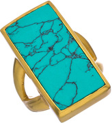 VOS Julie Belize Gold and Turquoise Ring