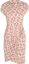 See by Chloe Draped brushed-satin dress