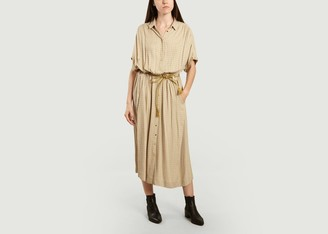 Swildens Cathie Checked Long Shirt Dress - 34