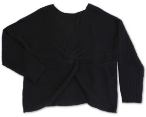 Full Circle Trends Trendy Plus Size Twist-Front Sweater