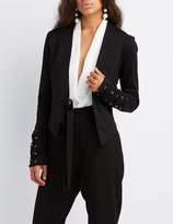 Charlotte Russe Lace-Up Sleeve Blazer
