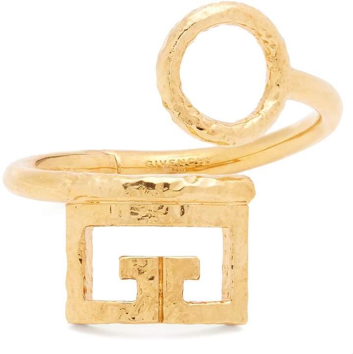 Givenchy Logo and circular cut-out cuff