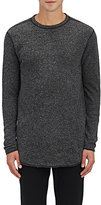Nlst Men's Heathered Knit Sweatshirt-Dark Grey Size Xs