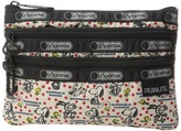 Le Sport Sac Peanuts 3 Zip Cosmetic Cosmetic Case