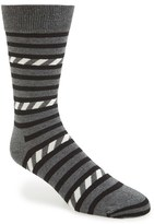 Happy Socks Men's Stripe Cotton Blend Socks