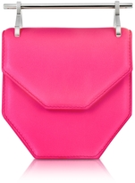 M2Malletier Mini Amor Fati Neon Pink Leather Shoulder Bag