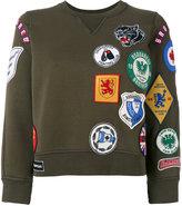 DSQUARED2 badge patch sweatshirt