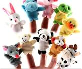 Axixi 10 Pcs Educational Puppets Story Time Finger Puppets-10 Animals Fun Express Preschool Kindergarten Puppets Kids Toy