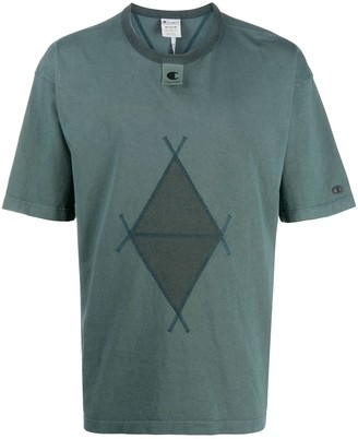 Champion diamond-print short-sleeved T-shirt