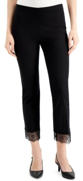 Alfani Lace-Hem Ankle Pants, Created for Macy's