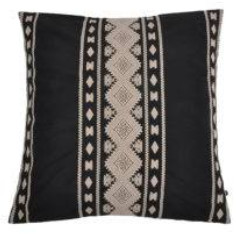PBHome - Black and Beige Jacquard Kenji Pillow Cover - black and beige
