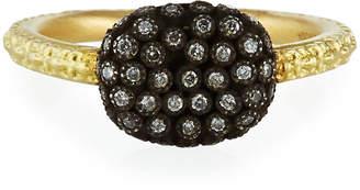 Armenta Old World Petite Pave Diamond Two-Tone Ring