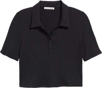 Reformation Robby Rib Knit Crop Polo