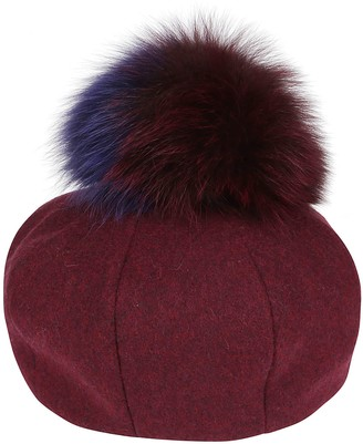 CA4LA Burgundy Wool Blend Hat