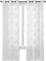 Asstd National Brand Hanson 2-Pack Embroidered Grommet-Top Curtain Panels