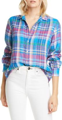 Frank And Eileen Plaid Linen Button-Up Shirt