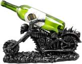 """Atlantic Collectibles Large Hell Ghost Rider Skull Chopper Motorbike Wine Holder Figurine 15.25"""" Long"""