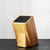 Crate & Barrel Universal Bamboo Knife Block