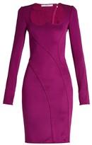 Givenchy Sweetheart-neckline Stretch Mini Dress - Womens - Purple