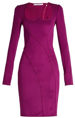 Givenchy Sweetheart-neckline Stretch Mini Dress - Purple