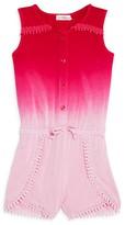 Design History Girls' Sleeveless Ombré Romper - Sizes 2-6X