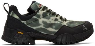 ROA Black and Grey Oblique Sneakers
