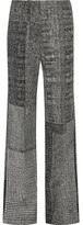 Jason Wu Patchwork Wool-jacquard Wide-leg Pants - Gray