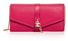 Chloé Aby Leather Chain Wallet Crossbody