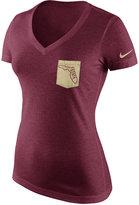 Nike Women's Florida State Seminoles Tri Mid-V Pocket T-Shirt