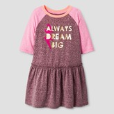 Cat & Jack Toddler Girls' A Line Dresses - Cat & Jack Burgundy