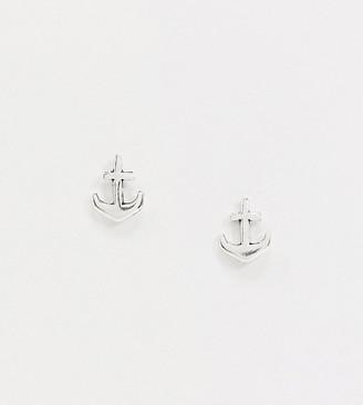 Kingsley Ryan Exclusive sterling silver anchor stud earrings