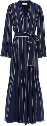 Tory Burch Belted Silk Crepe De Chine Gown