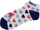 For Bare Feet Women's Atlanta Braves Heart Logo Repeat Socks