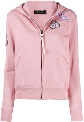 Mr & Mrs Italy Embroidered Detail Zipped Hoodie