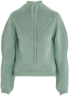 Alberta Ferretti High-Neck Knit Sweater