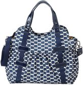 OiOi Eclipse Dot Tote Diaper Bag in Navy