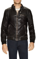 Members Only Woven Leather Jacket