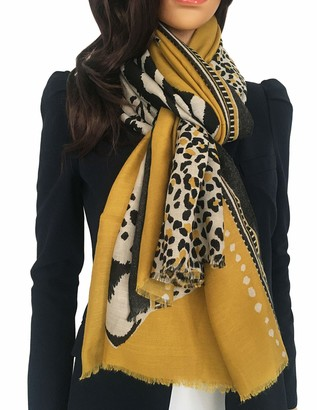 The Accessory Co. Ladies Large Leopard Print Scarf for Women Animal Print Scarves Long Neck Scarf Designer Shawl Wrap Tiger Zebra