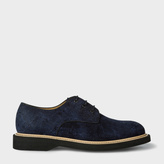 Paul Smith Men's Navy Textured Suede 'Howell' Derby Shoes