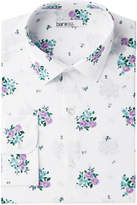Bar III Men's Slim-Fit Stretch Easy-Care Tossed Dobby Floral Dress Shirt, Created for Macy's