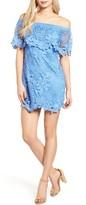 Mimichica Crochet Off The Shoulder Dress